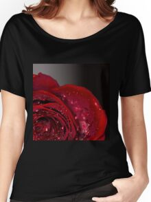 Red Rose macro 2 Women's Relaxed Fit T-Shirt