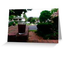 Sipping on the porch Greeting Card