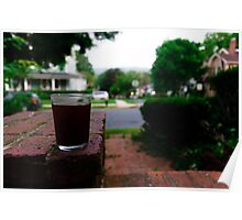 Sipping on the porch Poster