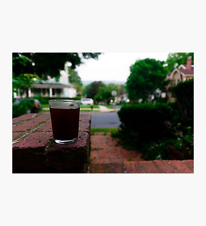 Sipping on the porch Photographic Print