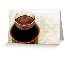 Coffee from outerspace  Greeting Card