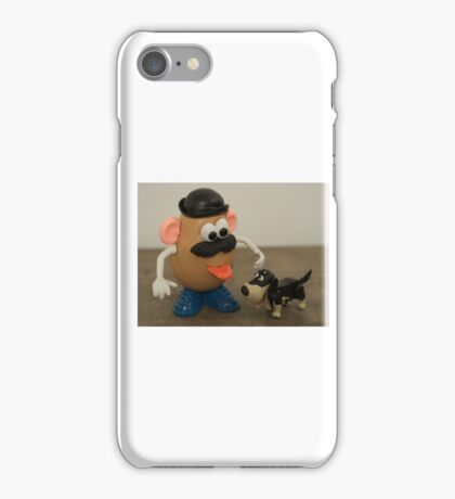 Mr Potato Head and his doggy  iPhone Case/Skin