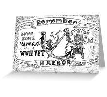 Remember Pearl Harbor Day cartoon Greeting Card