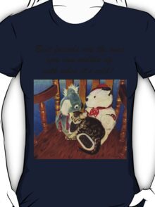 Rocking With Friends - Cat & Stuffed Animals iPhone Cases, T-Shirts & Stickers T-Shirt