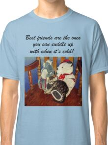 Rocking With Friends - Cat & Stuffed Animals iPhone Cases, T-Shirts & Stickers Classic T-Shirt