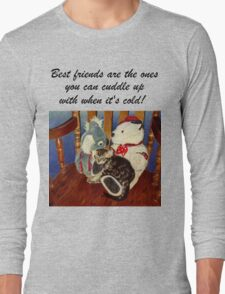 Rocking With Friends - Cat & Stuffed Animals iPhone Cases, T-Shirts & Stickers Long Sleeve T-Shirt