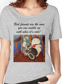 Rocking With Friends - Cat & Stuffed Animals iPhone Cases, T-Shirts & Stickers Women's Relaxed Fit T-Shirt