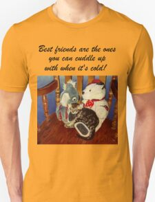 Rocking With Friends - Cat & Stuffed Animals iPhone Cases, T-Shirts & Stickers Unisex T-Shirt
