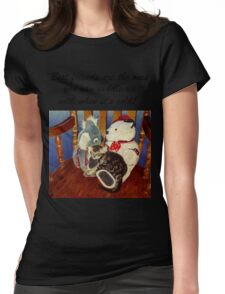 Rocking With Friends - Cat & Stuffed Animals iPhone Cases, T-Shirts & Stickers Womens Fitted T-Shirt