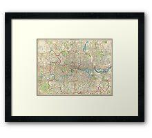 Vintage Map of London England (1899) Framed Print