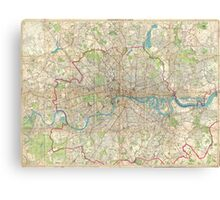 Vintage Map of London England (1899) Canvas Print