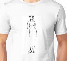 Nude sketch Unisex T-Shirt