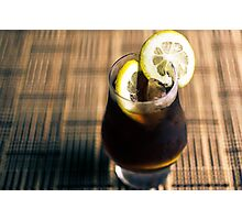 Cold Brewed coffee with lemon Photographic Print