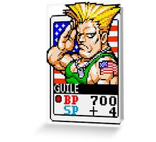 Guile - Street Fighter Greeting Card