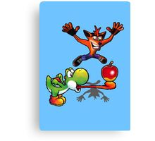 Apple challenge Canvas Print