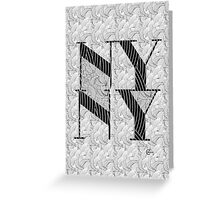 New York , New York, Deco Swing Greeting Card