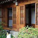 Little Boy in Hanok House Courtyard, Seoul by Jane McDougall