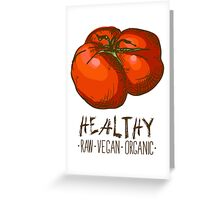 hand drawn vintage illustration of tomato Greeting Card