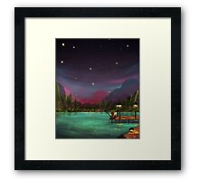Calm night Framed Print