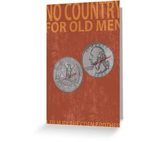 No Country For Old Men Minimalist Poster Greeting Card