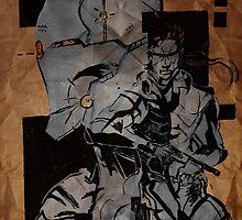 Gray and Snake by tagakain