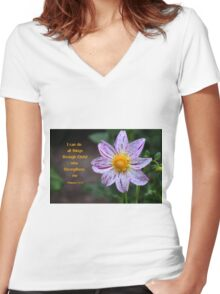 Given Strength Women's Fitted V-Neck T-Shirt