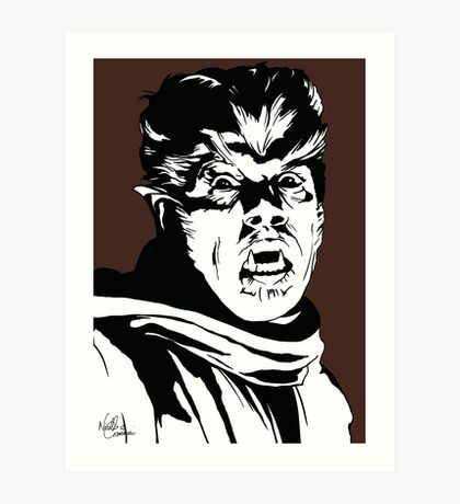 The Wolfman! Classic horror villain, pop art inspired Art Print
