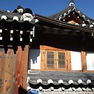Traditional Roof and Gate, Anguk, Seoul by Jane McDougall