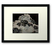Calcite on Sphalerite Framed Print