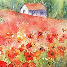 Poppy Field iPhone case by Ruth S Harris