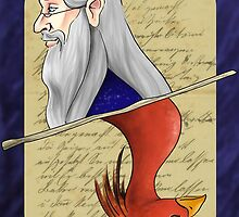 Albus Dumbledore Playing Card by imaginativeink