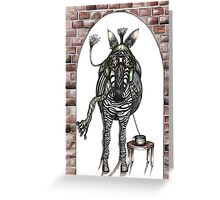 The flying zebra who loved coffee Greeting Card