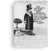 Mr Leatherstone Canvas Print
