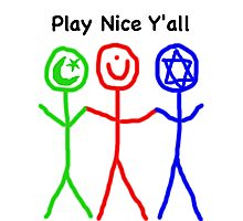 Play Nice Y'all Photographic Print