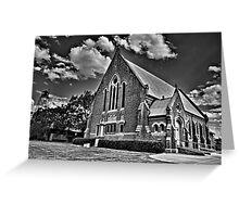 St Brendans, Ganmain, mono Greeting Card