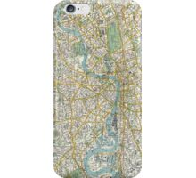 Vintage Map of London England (1900) iPhone Case/Skin