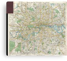 Vintage Map of London England (1900) Canvas Print