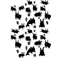 Weebeasts (black) Photographic Print