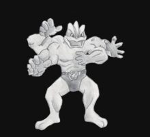 Machamp - B&W by Derek Wheatley Kids Tee