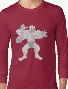 Machamp - B&W by Derek Wheatley Long Sleeve T-Shirt