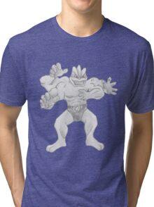 Machamp - B&W by Derek Wheatley Tri-blend T-Shirt
