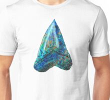 Blue Shark Tooth Art by Sharon Cummings Unisex T-Shirt