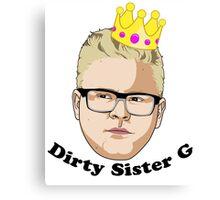 Dirty Sister G - Black Text Canvas Print