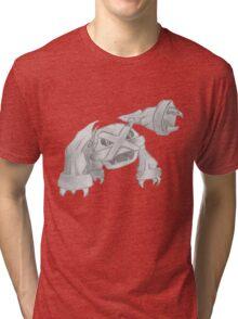 Metagross - B&W by Derek Wheatley Tri-blend T-Shirt