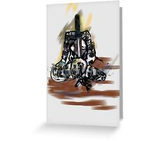 Samurai-coloured Greeting Card