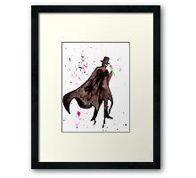 Tuxedo Mask Watercolor Framed Print