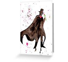 Tuxedo Mask Watercolor Greeting Card
