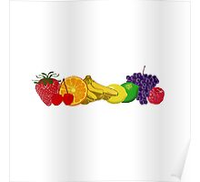 Colorful Fruits! Poster