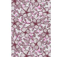 Spring Blossom in Marsala, Pink & Plum Photographic Print