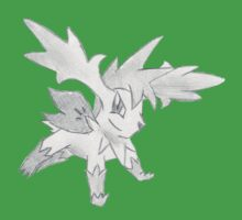 Shaymin Sky Forme - B&W by Derek Wheatley One Piece - Short Sleeve